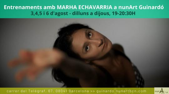 Entrenaments amb Marha Echavarria